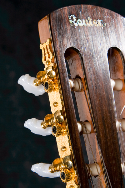 East Indian Rosewood headstock with Grover tuners.
