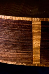 East Indian Rosewood with Koa binding and end strip.