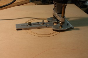 The Dremel tool with a StewMac circular base for routing the channels.