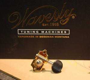 Waverly steel string tuners for a slotted headstock.