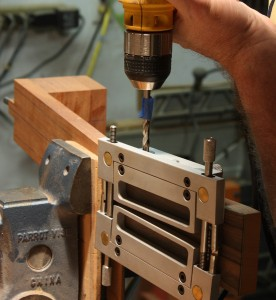 The slothead jig provides the capability for precision drilling and routing.