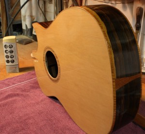 The guitar body after buffing.
