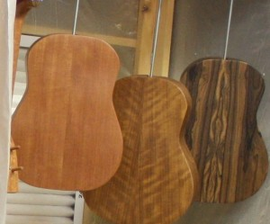 Three custom made ukeles