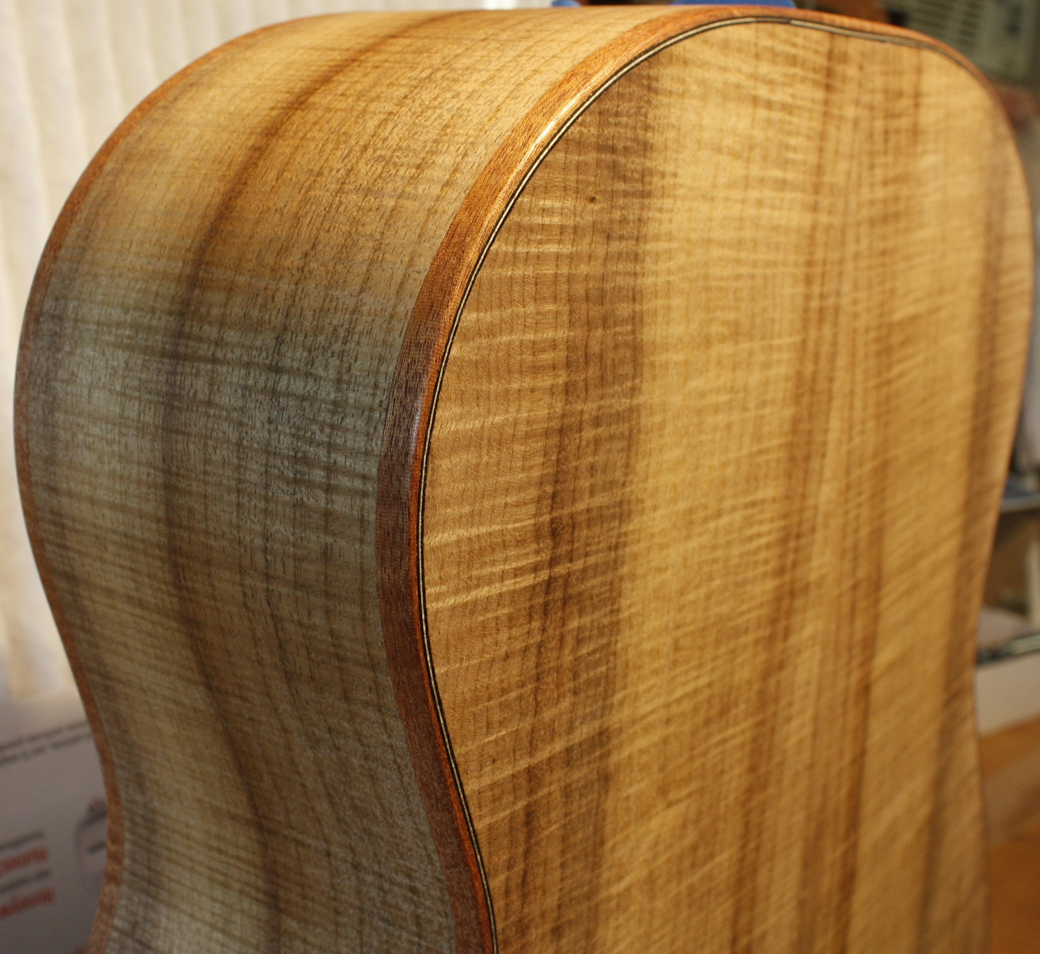 This view of the body was taken after applying two coats of Shellac sealer.