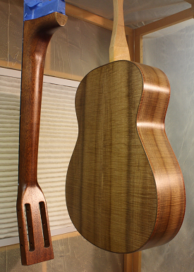 The neck and body after six coats.