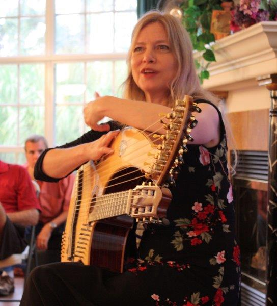 Muriel Anderson with her unique harp guitar.